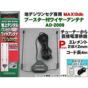送料お得 ネコポス可 ケンウッドHF-201端子用 地デジ・ワンセグ 4チューナー対応 MAX13dbブースター内蔵 ワイヤーアンテナ AD-2009|miyako-kyoto