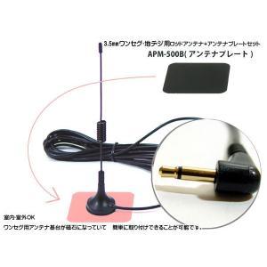 3.5mm ワンセグアンテナ 地デジ用 ロッドアンテナ+アンテナプレートセット