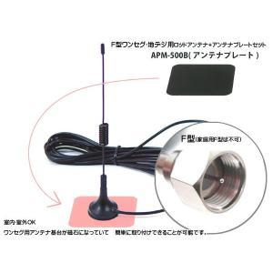 F型 ワンセグ 地デジ用 ロッドアンテナ+アンテナプレートセット miyako-kyoto