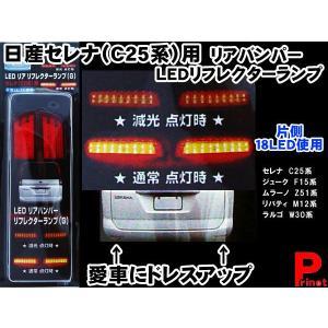 日産 セレナ/ジューク用 リアバンパー LED リフレクターランプ クリアレッド(G) RBL-G|miyako-kyoto