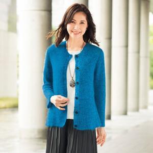 479206f9d7205 モヘヤ混ニットカーディガン50代 60代 70代 ファッション   シニアファッション   ミセス ...
