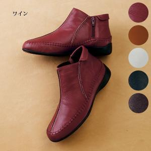 3E サイドファスナー山羊革アンクルブーツ50代 60代 70代 ファッション / シニアファッション / ミセスファッション|miyako385