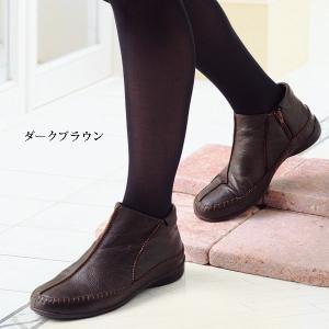 3E サイドファスナー山羊革アンクルブーツ50代 60代 70代 ファッション / シニアファッション / ミセスファッション|miyako385|03