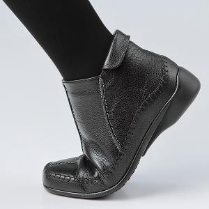 3E サイドファスナー山羊革アンクルブーツ50代 60代 70代 ファッション / シニアファッション / ミセスファッション|miyako385|04