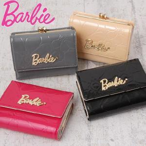 バービー/Barbie/財布/ガマ口 二つ折り財布/レディース/財布さいふサイフ/エナメル/ラウラ/1-36193|miyamoto0908