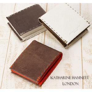 キャサリンハムネット 二つ折り財布 KATHARINE HAMNETT カラーテーラード 490-51906|miyamoto0908