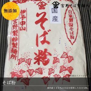 そば粉 蕎麦 300g×1袋 国産 そば 100% 自家製粉 無添加 お試し メール便 送料無料 ポイント消化|miyanosoba