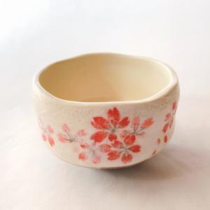 送料無料 抹茶茶碗 小茶碗 豊窯作【桜】さくら|miyaoen
