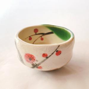 送料無料 抹茶茶碗 小茶碗 豊窯作【梅】うめ|miyaoen