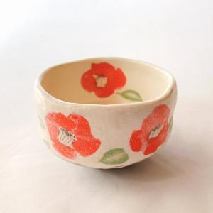 送料無料 抹茶茶碗 小茶碗 豊窯作【椿】つばき|miyaoen