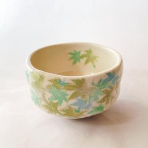 送料無料 抹茶茶碗 小茶碗 豊窯作【青楓】あおかえで|miyaoen