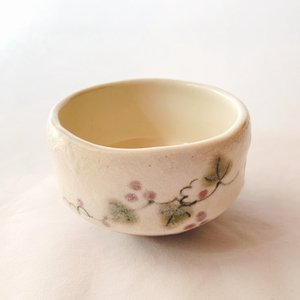 送料無料 抹茶茶碗 小茶碗 豊窯作【葡萄】ぶどう|miyaoen