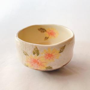 送料無料 抹茶茶碗 小茶碗 豊窯作【ひまわり】|miyaoen
