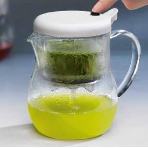 MacMaマックマー。緑茶・紅茶・珈琲用ティーポット ジェイプッシュ ホワイト J-Push AA0068|miyaoen