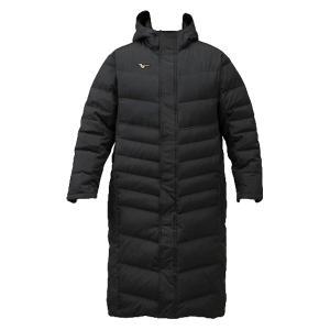 ミズノプロ ダウンロングコート ロングコート ベンチコート 中綿コート 12JE9G8009 ブラック miyaspo