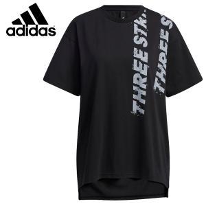 アディダス Tシャツ半袖 レディース ワード半袖Tシャツ 25073 GQ1226 ブラック×ホワイト miyaspo