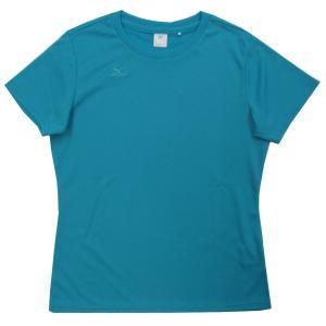 ミズノ Tシャツ半袖 レディース ワンポイントTシャツ ナビドライ 32MA533523 ターコイズ miyaspo