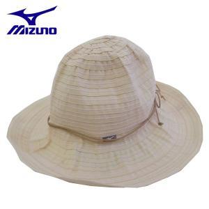 登山帽子 ミズノ ブレードハット 登山ハット レディース 73BL50604 アイボリー Lサイズ|miyaspo