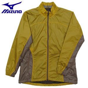 登山ジャケット ミズノ ブレスサーモRGライトシェルジャケット アウトドアジャケット レディース 73JW40545 サフラン Lサイズ|miyaspo