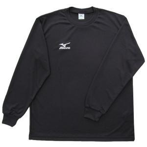 ミズノ Tシャツ 長袖 ワンポイントTシャツ ナビドライ A60SP21609 ブラック NAVID...