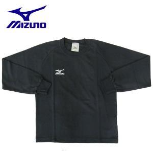 ミズノ Tシャツ 長袖 ワンポイントTシャツ ジュニア A60SY65509 ブラック