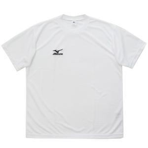 ミズノ Tシャツ 半袖 ワンポイントTシャツ ナビドライ A60TF21601 ホワイト|miyaspo
