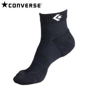 コンバース バスケット ソックス 靴下 テーピングソックス CB17004 1911 ブラック×ホワイト|miyaspo