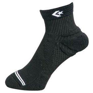 コンバース バスケットソックス バスケ靴下 クイックソックス CB171001 1911 ブラック×ホワイト 25〜27cm|miyaspo