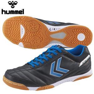 サッカートレーニングシューズ ヒュンメル アピカーレS FL HAS5112 9060 ブラック×ブルー miyaspo