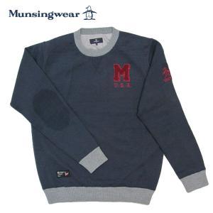 ゴルフセーター マンシングウェア ゴルフウエア 丸首セーター MGMSJL01CH NV ネイビー 送料無料|miyaspo