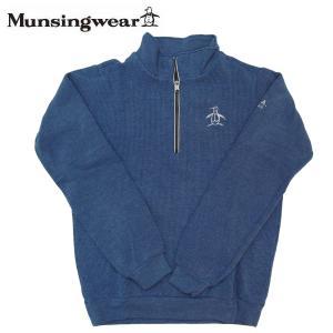 ゴルフセーター マンシングウェア ゴルフウエア ハーフジップアップセーター MGMSJL52CH BL ブルー 送料無料|miyaspo