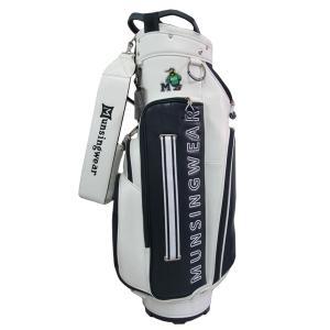 ゴルフキャディバッグ マンシングウェア キャディバッグ MQCSJJ00 WH ホワイト 送料無料|miyaspo