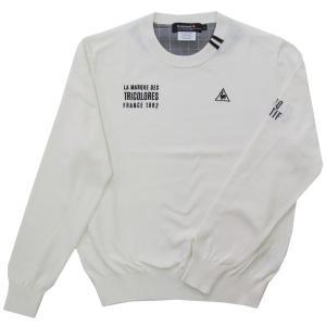 シャリっとしたドライ感と柔らかい風合いを併せ持った春らしい綿100%のクルーネックセーター。デザイン...