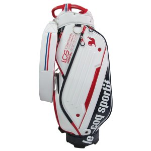 ゴルフキャディバッグ ルコック QQBSJJ01 WH ホワイト 送料無料|miyaspo