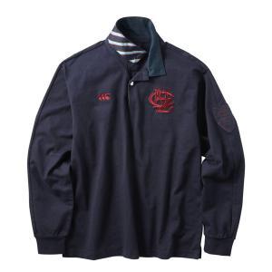 カンタベリー ラガーシャツ長袖 ロングスリーブラガーシャツ RA40584 29 ネイビー Lサイズ miyaspo