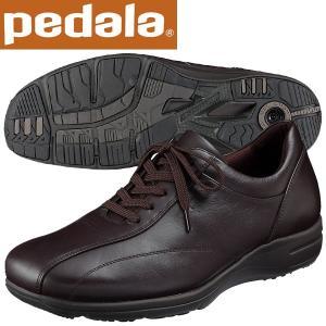 ペダラ ウォーキングシューズ 4E アシックス pedala WS405S 28 ダークブラウン 送料無料|miyaspo