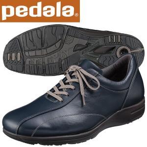 ペダラ ウォーキングシューズ 4E アシックス pedala WS405S 50 ネイビーブルー 送料無料 miyaspo