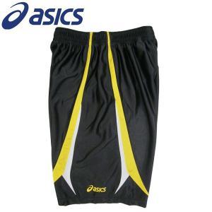 アシックス バスケットパンツ プラパン XB732N 9004 ブラック×イエロー Mサイズ|miyaspo