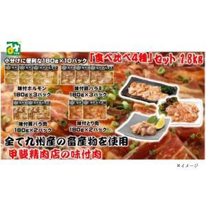 味付肉 食べ比べ4種セット 冷凍 直送 商品代引不可 他の商品との同梱不可 甲斐精肉店|miyazakikonne