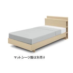 ベッドフレームのみ シングルベッドフレーム イソラISORA 幅98cm サイドラック コンセント付