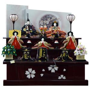 雛人形 ひな人形 段飾り 雛飾り 五人飾り 44G-12 80cm 3段