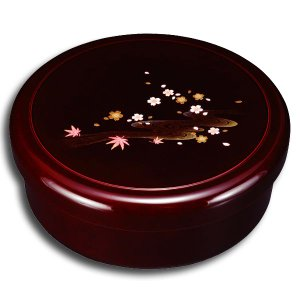 紀州塗り 10.5寸 茶櫃 溜 みやび春秋|miyoshi-ya