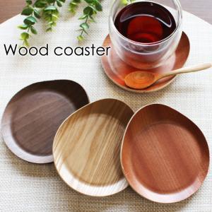 コースター 木製 ウッドコースター おしゃれ 耳付き 北欧 かわいい 天然木 茶托 茶たく 可愛い ...