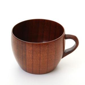 天然木製 大和型コーヒーカップ 漆塗り|miyoshi-ya
