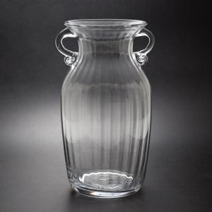 ガラス花瓶 ダブルイヤー クリア フラワーベース 大|miyoshi-ya