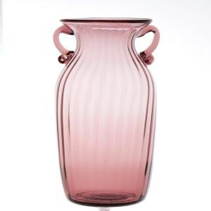 ガラス花瓶 ダブルイヤー パープル フラワーベース 大|miyoshi-ya