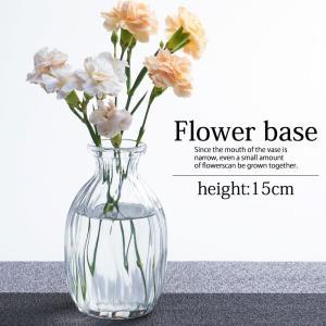 花瓶 ガラス 一輪挿し おしゃれ フラワーベース 小さい かわいい クリア 北欧 円柱 送料無料