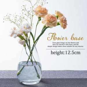フラワーベース 花瓶 おしゃれ ガラス 一輪挿し 北欧インテリア雑貨 丸 かわいい 小さい シンプル...