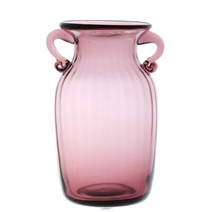 ガラス花瓶 ダブルイヤー パープル フラワーベース 小|miyoshi-ya