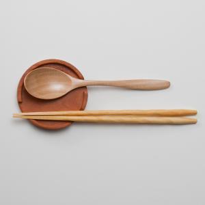 天然木製 ソリッド カトラリーレスト(箸とスプーン置き) マホガニー Cutlery Rest|miyoshi-ya
